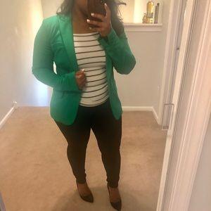 Green blazer by INC